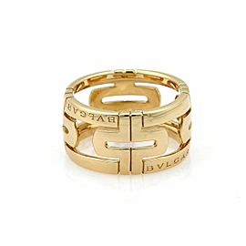 Bulgari Parentesi 18k Yellow Gold 11.5mm Dome Band Ring Size 7