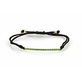 Tiffany & Co. Tsavorite Metro Bar Cord & 18k Yellow Gold Bracelet