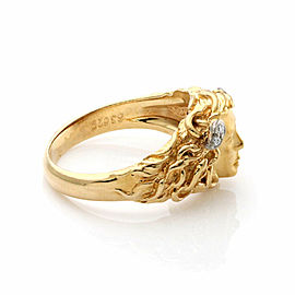 Carrera y Carrera Medusa Diamond 18k Gold Face Ring Size 6.25