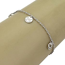 Hermes 3 Rocking Horse Disc Charms 18k White Gold Bracelet