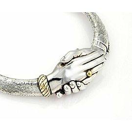 Vintage Yaacov Heller Handshake Choker Necklace in Sterling Silver LTD 23/250