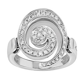 Salvini 18K White Gold with Diamonds Cocktail Ring Size 7.5