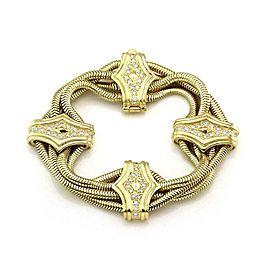 Siedengang 1 Carat Diamond 18k Yellow Gold Multi Snake Chain Fancy Bracelet