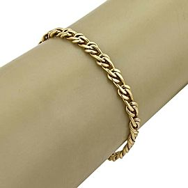 "Chiampesan 18k Yellow Gold Interlaced Link Bracelet/Anklet 10"" long"