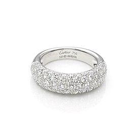 Etincelle de Cartier Diamond 18k Gold Band Ring Size 5.25