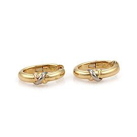 Cartier Trinity 18k Tricolor Gold Oval Hoop Earrings w/Paper