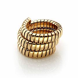 Bvlgari Tubogas 18k Yellow Gold 15mm Wide Wrap Band Ring
