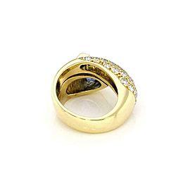 Estate 3.50ct Tanzanite Diamond 18k Yellow Gold Fancy Cocktail Ring Size 6