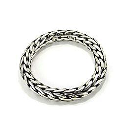John Hardy Hefty Sterling Silver 12mm Thick Weave Design Flex Bracelet 189.6gr