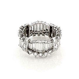Estate 6 Carats Diamond Platinum All Around Eternity Band Ring Size 8