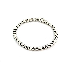 David Yurman Sterling Silver 5mm Box Link Chain Bracelet