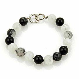 Tiffany & Co. Picasso Sterling Black & White Gemstone Beaded Bracelet