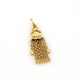 Pomellato 18k Yellow Gold Dangling Girl Flex Chain Pendant