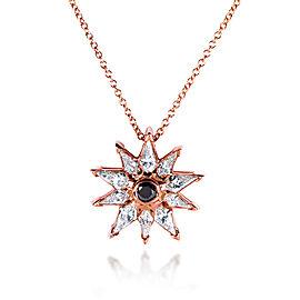 Kite-cut Diamond Star Pendant Necklace 3/4 Carats (ctw) in 10k Rose Gold