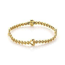 Van Cleef & Arpels Cool Hearts 18k Yellow Gold All Around Heart Link Bracelet