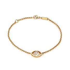 Chopard Happy Diamond 18k Rose Gold Evil Eye Charm Chain Bracelet