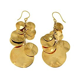 Ippolita 18k Yellow Gold Graduated Cluster Discs Dangle Earrings