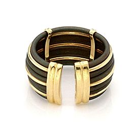 Roberto Coin 18k Yellow Gold Polyurethane Wide Cuff Band Ring