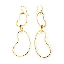 Ippolita 18k Yellow Gold Double Bean Shape Drop Dangle Earrings