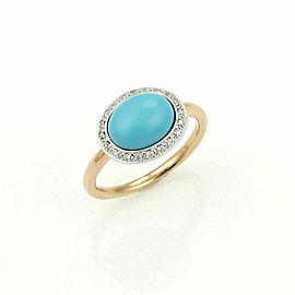 Mimi Diamond & Turquoise 18k Gold Cocktail Ring