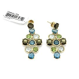 Ippolita Gelato Multicolor Gems Chandelier 18k Gold Earrings