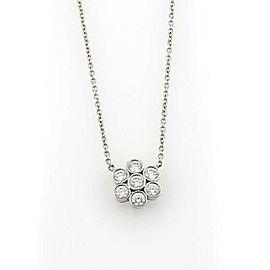 Tiffany & Co. Enchant Platinum Diamond Flower Pendant Necklace
