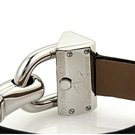 Van Cleef & Arpels CADENAS Stainless Steel Black Leather Band Wrist Watch