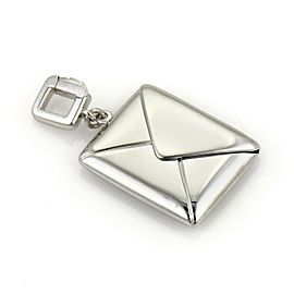 Louis Vuitton 18k White Gold Envelope Charm Pendant
