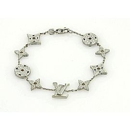 Louis Vuitton Monogram 18k White Gold All Around Diamond Bracelet