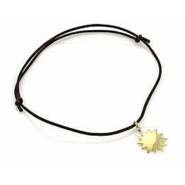 Pasquale Bruni Le Monde 18k Yellow Gold Sun Pendant & Cord Necklace