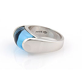 Bvlgari Tronchetto Blue Topaz 18k White Gold Ring