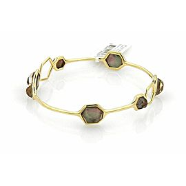 Ippolita Rock Candy Black Shell 7 Stone 18k Yellow Gold Bangle