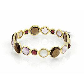 Ippolita Rock Candy Gemstone 18k Yellow Gold Bangle Bracelet