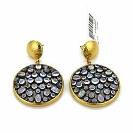 Gurhan VENUS Moonstone 24k Gold & Sterling Large Dangle Earrings