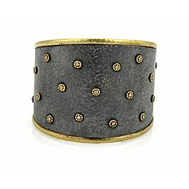Gurhan Imperial Diamond 24k Gold Sterling Wide Tapered Cuff Bracelet