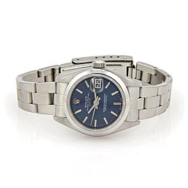 Rolex Oyster Perpetual Date Blue Dial Automatic S/S Ladies Watch Model 79160