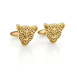 Carrera Y Carrera 18k Yellow Gold Cheetah Stud Cufflinks