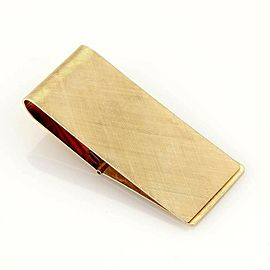 Vintage Money Clip Lever Release in 14k Yellow Gold Textured Design