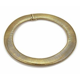 Wide Flex Collar 14k Yellow Gold Necklace