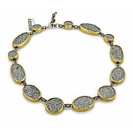 Gurhan Druzy Amphorous Galaxy Sterling 24k Gold Necklace