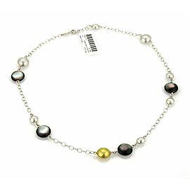 Gurhan Lentil Cloud Station Mother Of Pearl Sterling 24k Gold Necklace