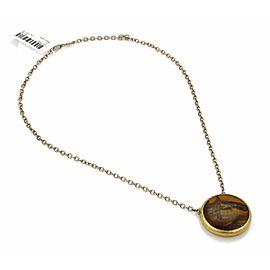 Gurhan Galapagos Tiger's Eye Sterling & Layered 24k Gold Pendant Necklace