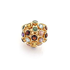 Sputnik Multicolor Gemstone 14k Rose Gold Sputnik Dome Ring Size - 6.25