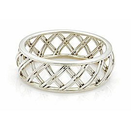 Tiffany & Co. Villa Paloma wide trellis sterling silver bangle