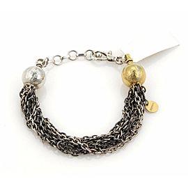 Gurhan Delight Beads 7 Chain Bracelet in 24k Gold & Sterling Silver