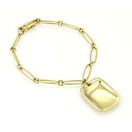 Tiffany & Co. Elsa Peretti 18k Yellow Gold Bracelet & Rectangular Charm Bracelet