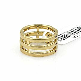 Ippolita Glamazon Orange Sapphire & Diamond 18k Gold Triple Band Ring