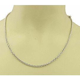 Bvlgari 18k White Gold Rolo Link Adjustable Chain