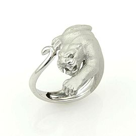 Carrera y Carrera Diamond Panther 18k White Gold Ring