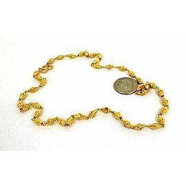 Fancy Geometric Shape 24k Gold Link Chain Necklace